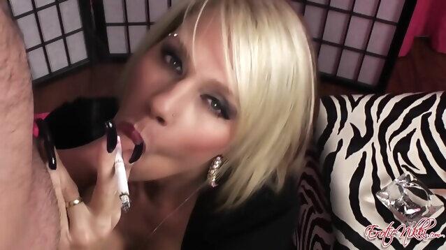 blonde big tits Eroticnikki - Smoking Cum