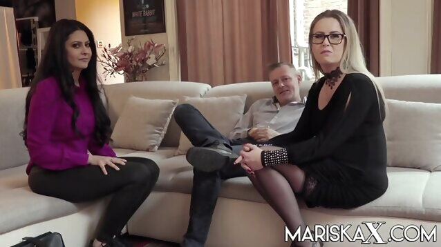 big tits amateur Mariska joins a hot swinger couple