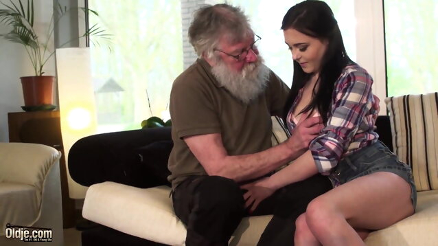 pornstar blowjob Old man and young lady