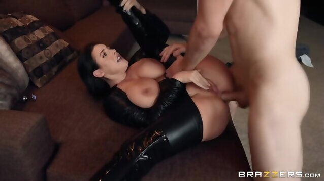 anal amateur Busty Latex Girl Angela White Likes Big Cock In Her Anus